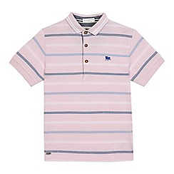 J by Jasper Conran - Boys' pink striped print polo shirt