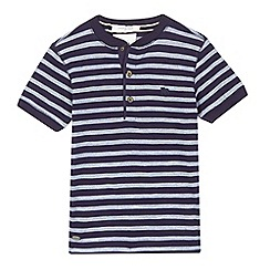 J by Jasper Conran - Boys' navy striped henley shirt