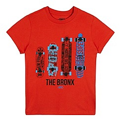 bluezoo - Boys' red 'Skateboard' print t-shirt