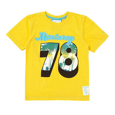 Mantaray - Boy+s yellow +78+ print t-shirt