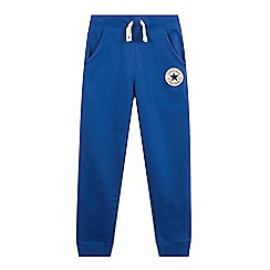 Converse - Boys' blue slim fit jogging bottoms