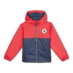 Converse - Boys' red logo applique anorak coat