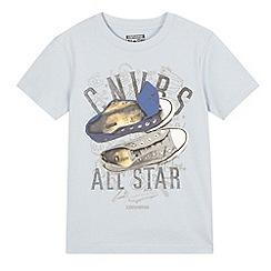 Converse - Blue 'Converse' print t-shirt