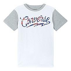 Converse - Boys' white 'Converse' print t-shirt