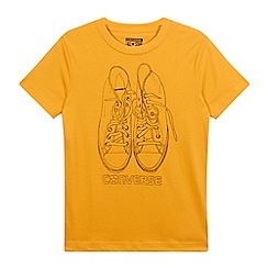 Converse - Boys' orange trainer print t-shirt