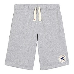 Converse - Boys' grey 'All Star' French terry shorts