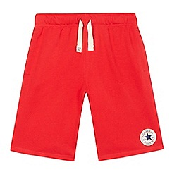 Converse - Boys' red 'French Terry' shorts