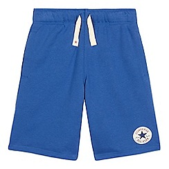 Converse - Boys' blue 'All Star' French terry shorts