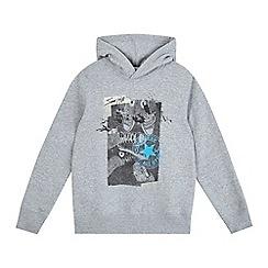 Converse - Boys' grey shoe print hoodie