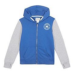 Converse - Boys' blue 'Converse' print hoodie