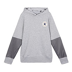 Converse - Boys' grey logo applique hoodie