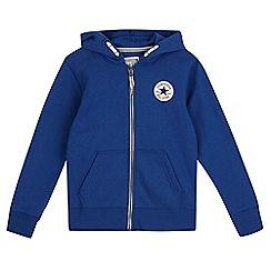 Converse - Boys' blue zipped hoodie
