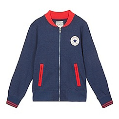 Converse - Boys' navy logo applique sweater