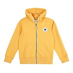 Converse - Boys' yellow 'All Star' zip through hoodie
