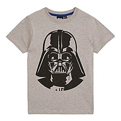 Star Wars - Boys' grey 'Darth Vader' print t-shirt