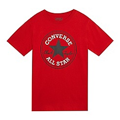 Converse - Red 'All Star' print t-shirt