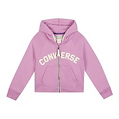 Converse - Girls' lilac 'All Star' zip through hoodie