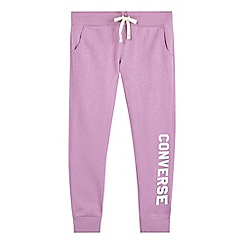 Converse - Girls' purple logo joggers