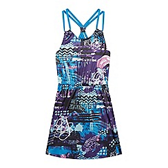 Converse - Girls' purple 'All Star'- inspired print dress
