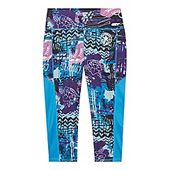 Converse - Girls' purple 'All Star'- inspired print leggings