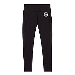 Converse - Girls' black 'All Star' leggings