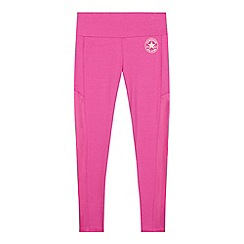 Converse - Girls' pink 'All Star' leggings