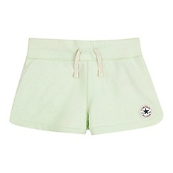 Converse - Girls' light green 'Core' shorts