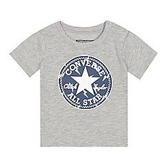 Converse - Baby boys' grey 'All Star' logo print t-shirt