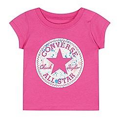 Converse - Baby girls' pink logo print t-shirt