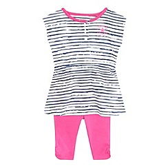 Converse - Baby girls' pink 'All Star' print dress and leggings set