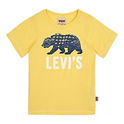 Levi's - Boys' yellow bear print t-shirt