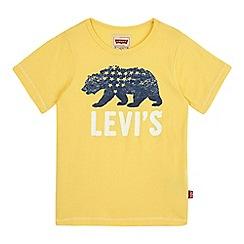 Levi's - Boys' yellow bear print t-shirt