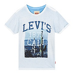 Levi's - Boys' blue 'California' cactus print t-shirt