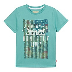 Levi's - Boys' light green American flag t-shirt