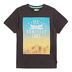 Levi's - Boys' black skyline print t-shirt