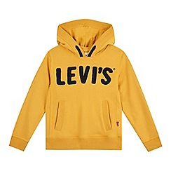 Levi's - Boys' yellow flocked logo hoodie