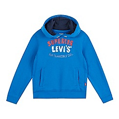 Levi's - Boys' blue 'Superior' print hoodie