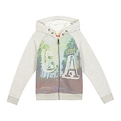 Levi's - Boys' grey 'California L.A.' print zip through hoodie