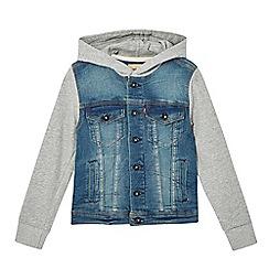 Levi's - Boys' denim jersey hoodie