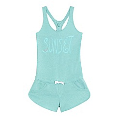 Levi's - Girls' light green 'sunset' print playsuit