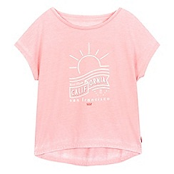 Levi's - Girls' pink 'California' print t-shirt