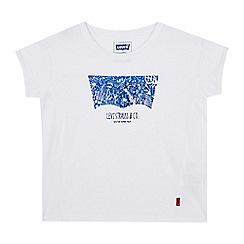 Levi's - Girls' white foil-effect logo print t-shirt
