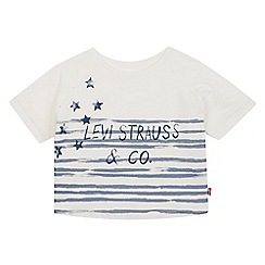 Levi's - Girls' white stars and stripes logo print t-shirt