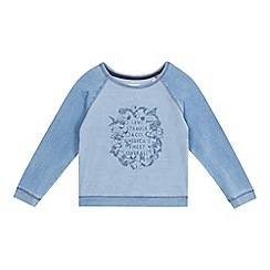 Levi's - Girls' blue logo applique sweater