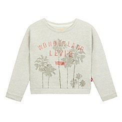 Levi's - Girls' grey glitter sweater