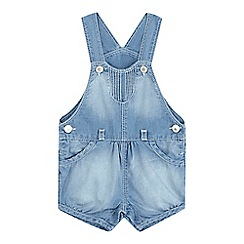 Levi's - Baby girls' mid wash blue overalls