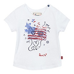 Levi's - Baby girls' white American flag print t-shirt