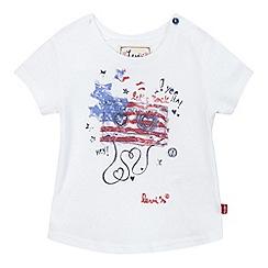 Levi's - Baby girls' white American flag print t-shirt