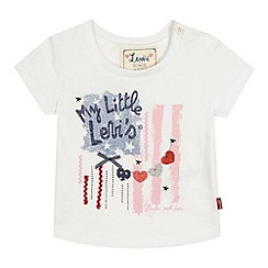 Levi's - Baby girls' white 'My little Levi's' t-shirt