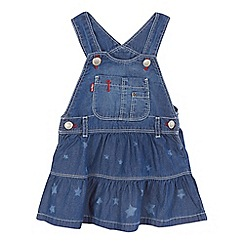 Levi's - Baby girls' blue star printed denim dress